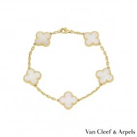 Van Cleef & Arpels Yellow Gold Vintage Alhambra Bracelet VCARA41800